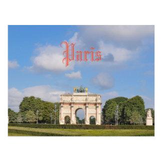 Arco del Triunfo du Carrousel en París, Francia Postal