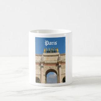 Arco del Triunfo du Carrousel en París, Francia Taza De Café