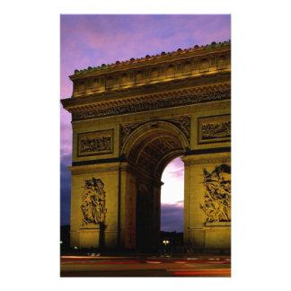 Arco del Triunfo en la oscuridad, París, Francia Papeleria De Diseño