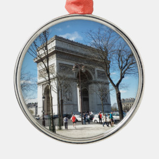 Arco del Triunfo, París, Francia Adorno Redondo Plateado