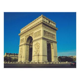 Arco del Triunfo, París, Francia Folleto 21,6 X 28 Cm