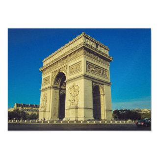 Arco del Triunfo, París, Francia Invitación 12,7 X 17,8 Cm