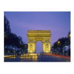 Arco del Triunfo, París, Francia, Postal
