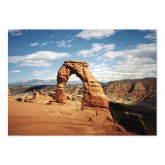 Arco delicado, arcos parque nacional, Utah Invitación 12,7 X 17,8 Cm