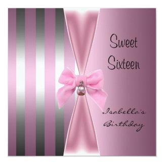 Arco dulce 2 de la raya del rosa del satén del