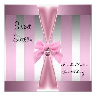 Arco dulce 3 de la raya del rosa del satén del cum comunicado personal