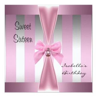 Arco dulce 3 de la raya del rosa del satén del