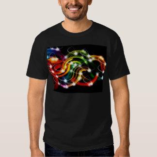 Arco iris 3D abstracto Camiseta