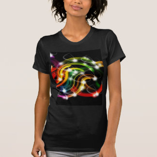 Arco iris 3D abstracto Camisetas