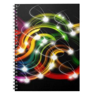 Arco iris 3D abstracto Cuaderno