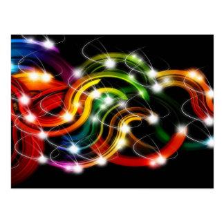 Arco iris 3D abstracto Postal