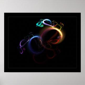 arco iris 3D Póster