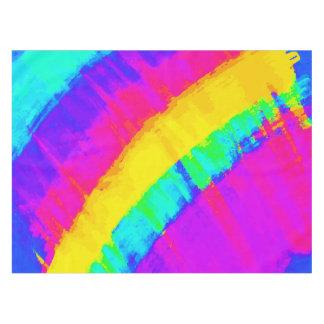 Arco iris abstracto colorido brillante de la mantel