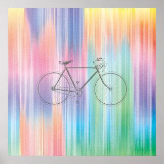 Arco iris abstracto poster
