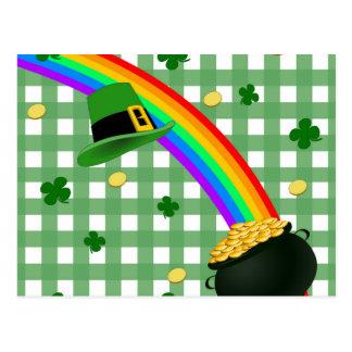 Arco iris afortunado postal