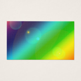Arco iris burbujeante tarjeta de negocios