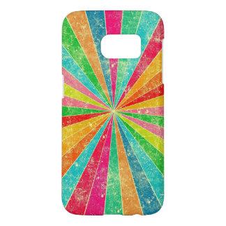 arco iris colorido del vintage fundas samsung galaxy s7