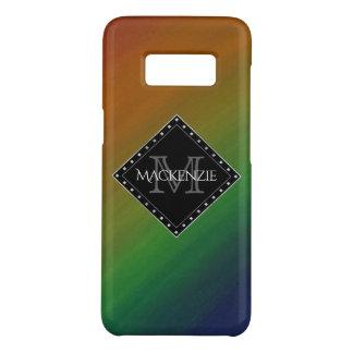 Arco iris colorido Ombre del monograma elegante Funda De Case-Mate Para Samsung Galaxy S8