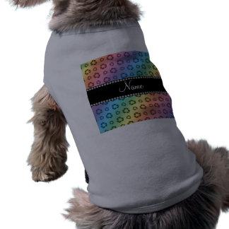 Arco iris conocido personalizado que recicla el camiseta sin mangas para perro