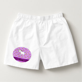 Arco iris conocidos personalizados de la púrpura calzoncillos