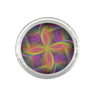 Arco iris cuadrático anillo