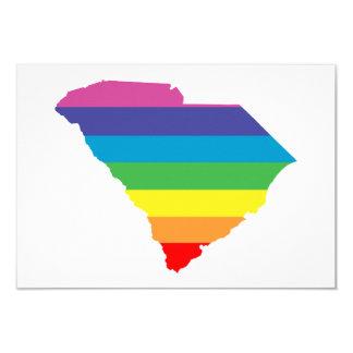arco iris de Carolina del Sur Invitación 8,9 X 12,7 Cm