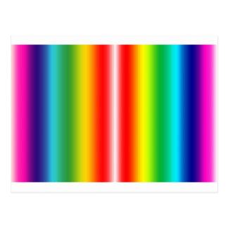 Arco iris de colores postal