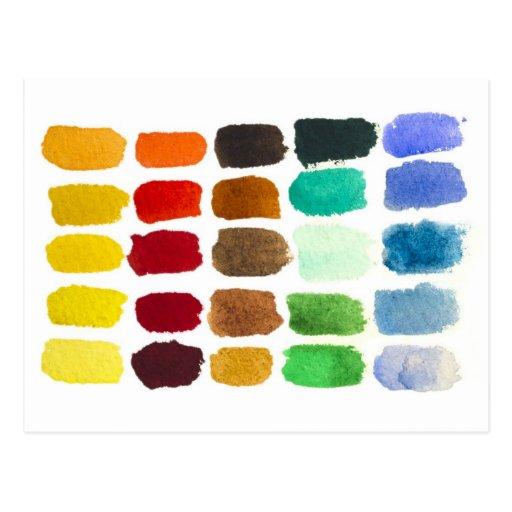 arco iris de colores postales