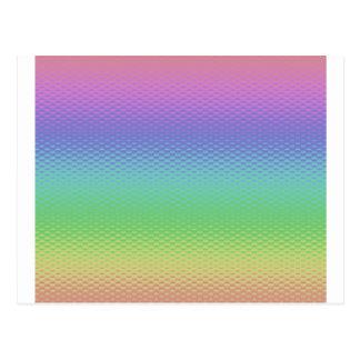 Arco iris de cristal postal