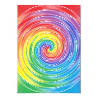 Arco iris de giro invitación 12,7 x 17,8 cm