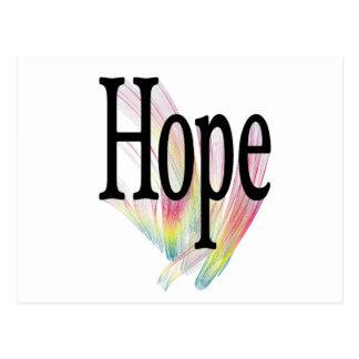 Arco iris de la esperanza postal