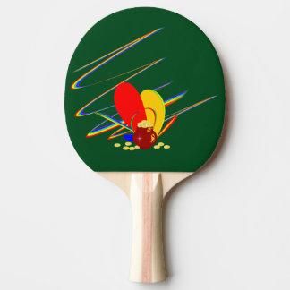 Arco iris de la magia del ANG del dinero del oro Pala De Ping Pong