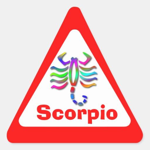 Arco iris de la muestra de la estrella del zodiaco pegatinas triangulo personalizadas