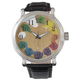 Arco iris de la paleta del ` s del artista reloj