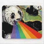 arco iris de la panda alfombrilla de ratón
