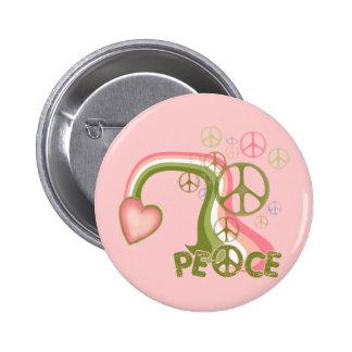 Arco iris de la paz chapa redonda 5 cm