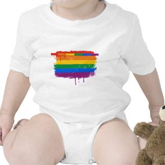 Arco iris de la sangría traje de bebé