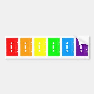 Arco iris de las cintas de casete del tigre 80s de pegatina para coche