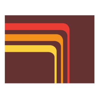 arco iris de los años 70 postal