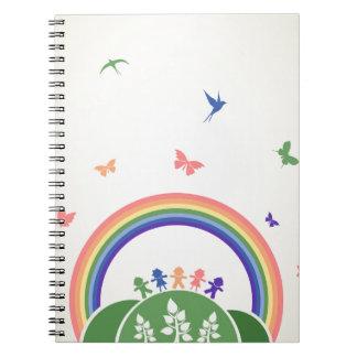 Arco iris de los niños cuaderno