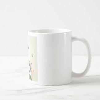 Arco iris de los niños taza de café