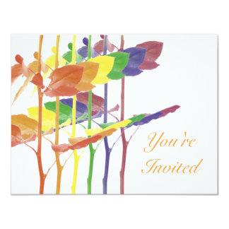 Arco iris de los rosas invitación 10,8 x 13,9 cm