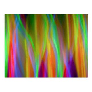 Arco iris de neón - brillante y alegre - postal