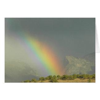 Arco iris del barranco de Lamoille Tarjeta Pequeña