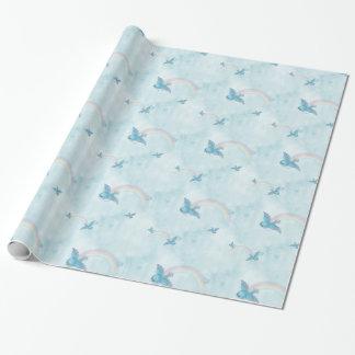Arco iris del Bluebird - nubes azules Papel De Regalo