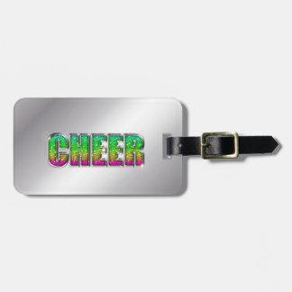 Arco iris del brillo de la alegría etiqueta para maletas
