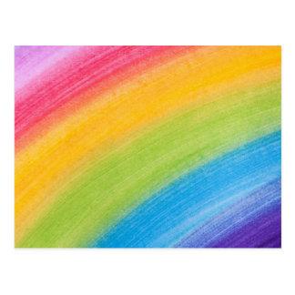 Arco iris del color de agua postal