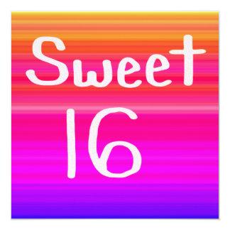 Arco iris del dulce 16 invitación 13,3 cm x 13,3cm