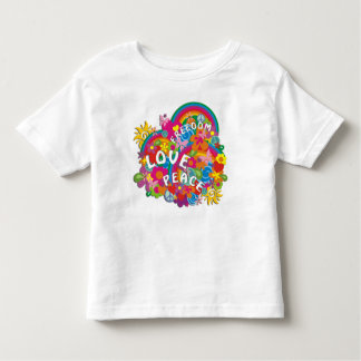 Arco iris del flower power camiseta