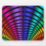 Arco iris del fractal tapetes de raton